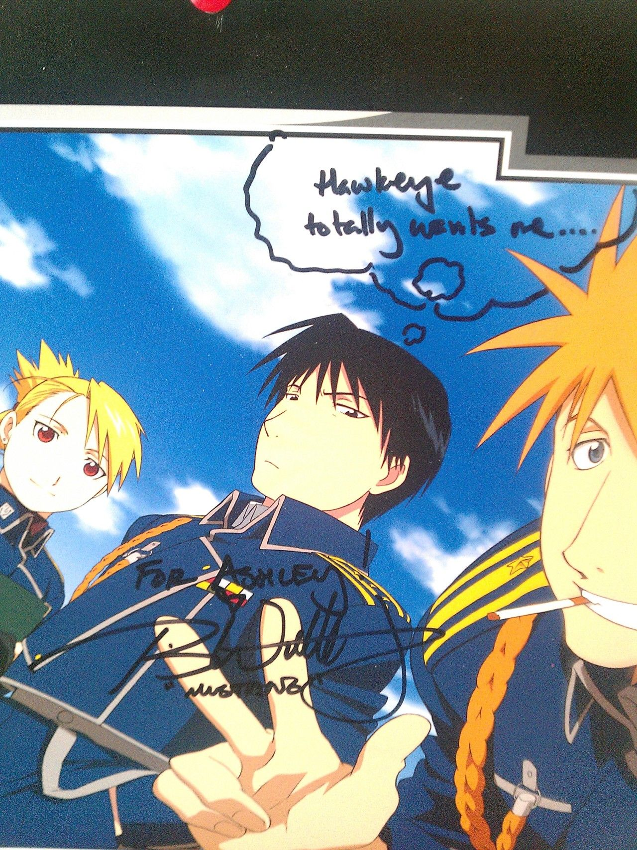 Calendar Caption Ideas : A calendar signed by travis willingham and he added the