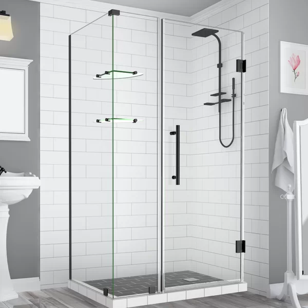 Bromley Gs Frameless With Glass Shelves 50 X 72 Rectangle Hinged Shower Enclosure Shower Enclosure Bathroom Renovation Cost Minimalist Showers