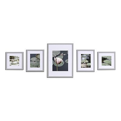 Plain White Frames With Mattes For Prints 4 8x10 3 11x14 2 8x8 1 5x7 Match