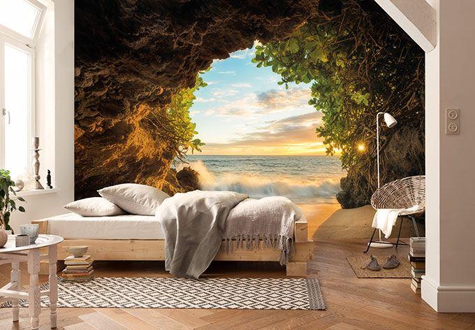 Wandgestaltung Ideen Schlafzimmer Wandtapete Geometrisches: Fototapete Hide Out In 2019