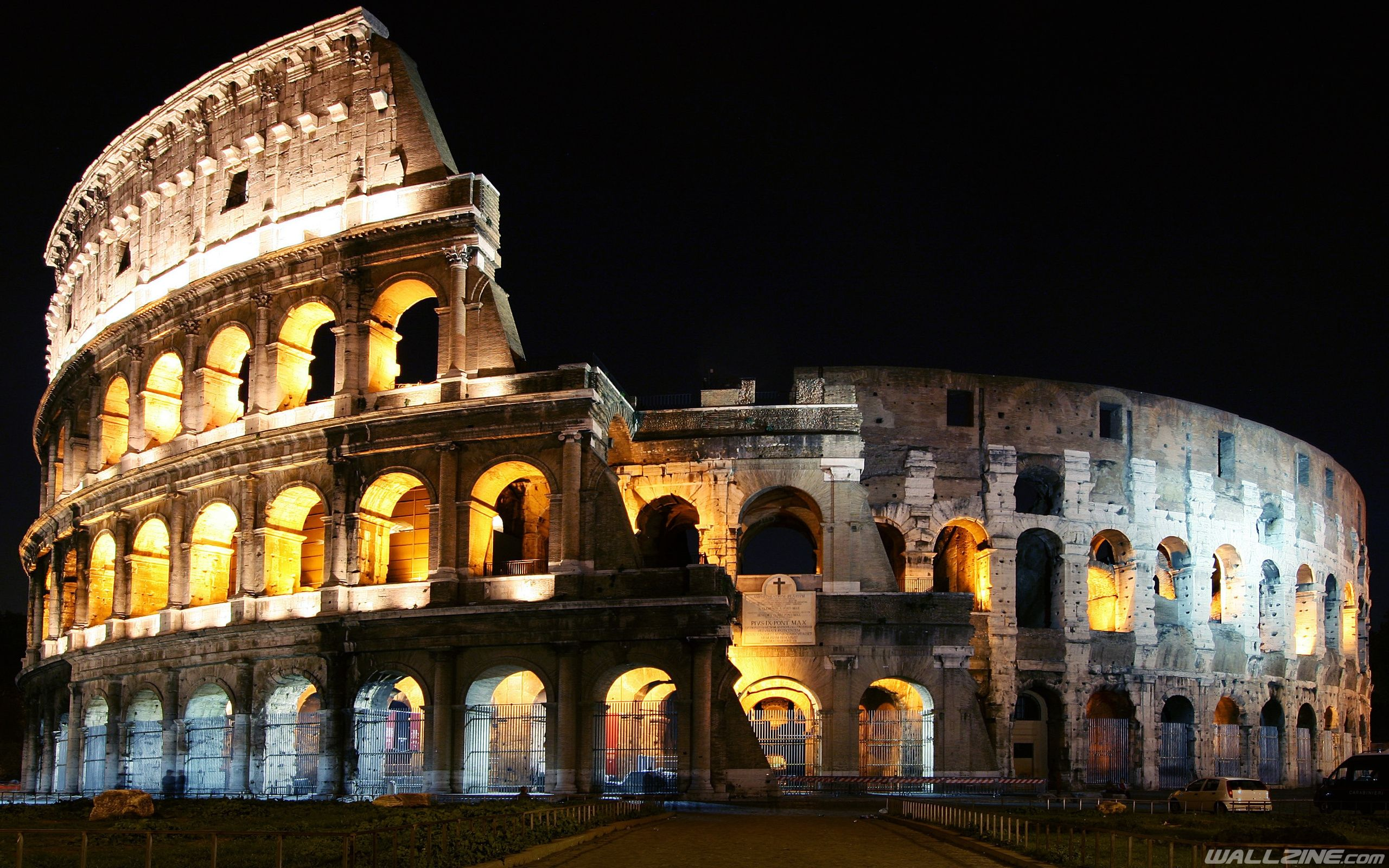 Colosseum Rome At Night Wallpaper