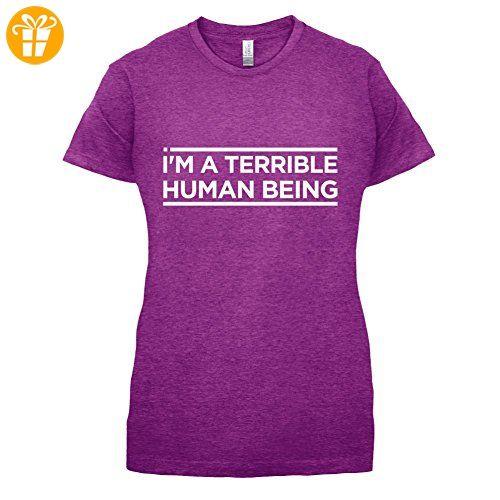 I'm A Terrible Human - Damen T-Shirt - Beere - XXL (*Partner-Link)