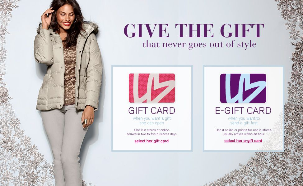 Lane bryant gift card or egift card i get a lot of my