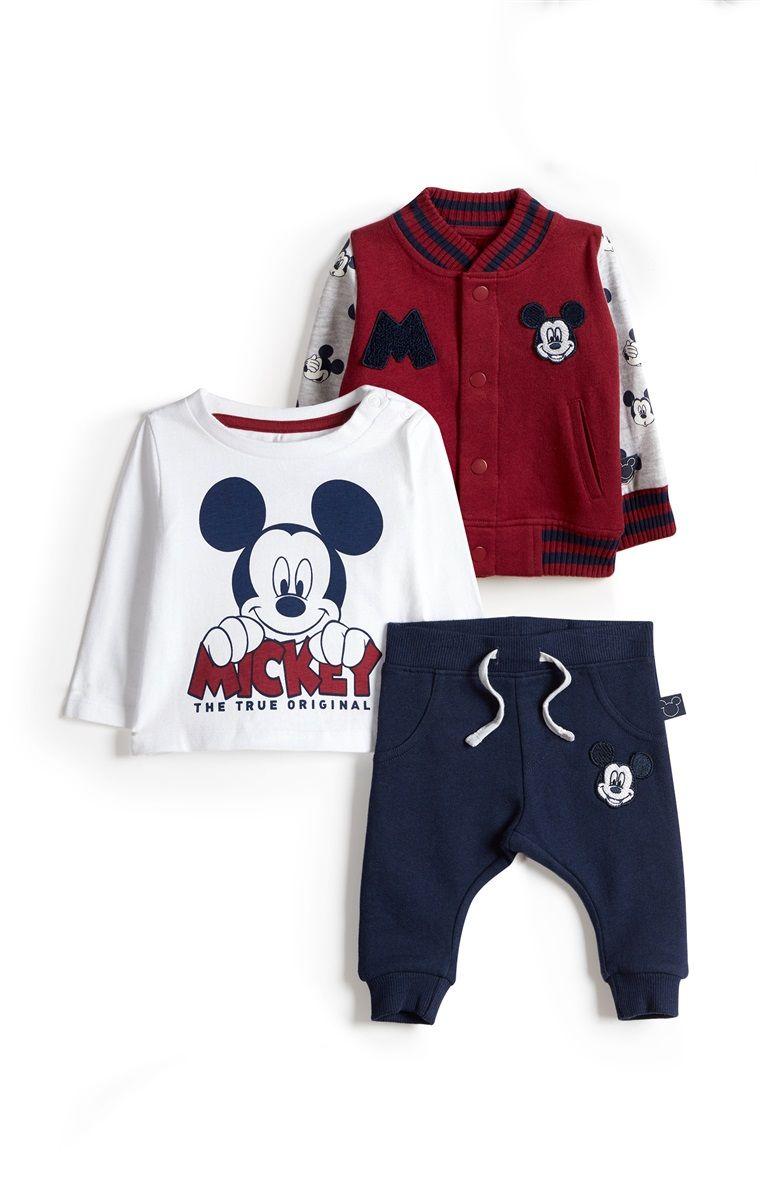 nuevo concepto muy elogiado venta de tienda outlet Primark - Conjunto 3 piezas Mickey para bebé niño | Ropa ...