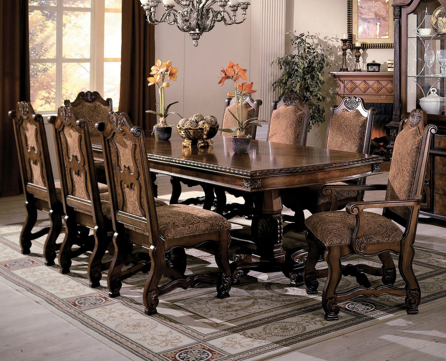 Neo Renaissance Dining Table By Crown Mark Furniture Home