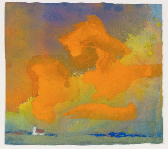 Red and Yellow Cloud, Emil Nolde, c.1930. Intercepted by Gravitation