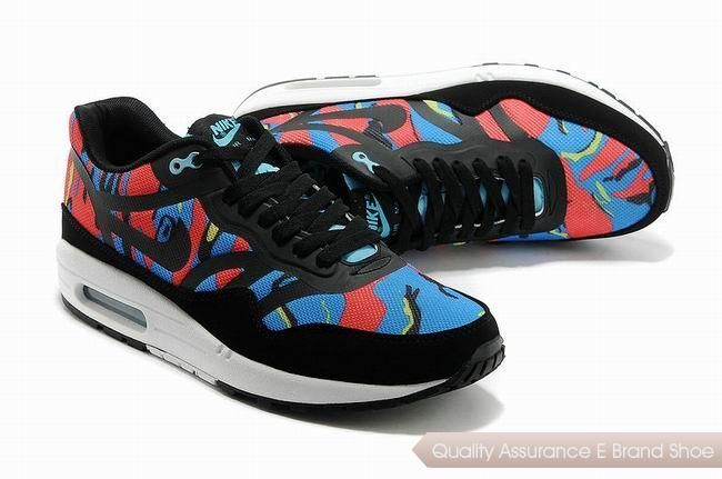 new concept 2d10f 1a013 nike air max 1 cmft prm tape unisex black red sneakers p 2254