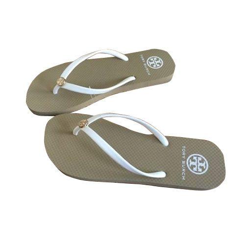Khaki White Women Tory Burch 6 7 8 9 10 Flat flip flops beach sandals  slippers