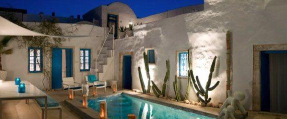 Maison d 39 h te tunisie pinteres for Architecture maison tunisie
