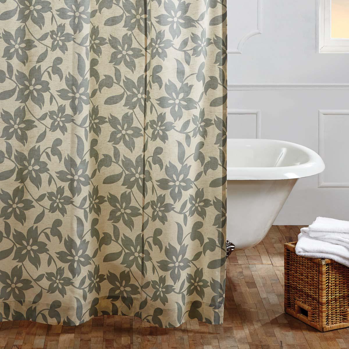 Briar Sage Shower Curtain 72x72 Primci Primitive Shower Curtains