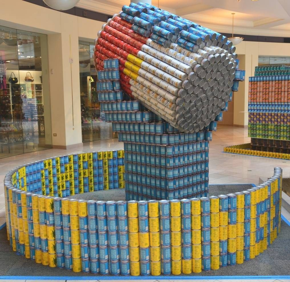 canstruction students design and build colossal