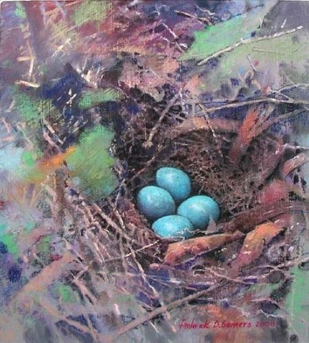 """Catbird's Hideaway by Frederick Somers Giclee on Paper ~ 12"""" x 11"""""""