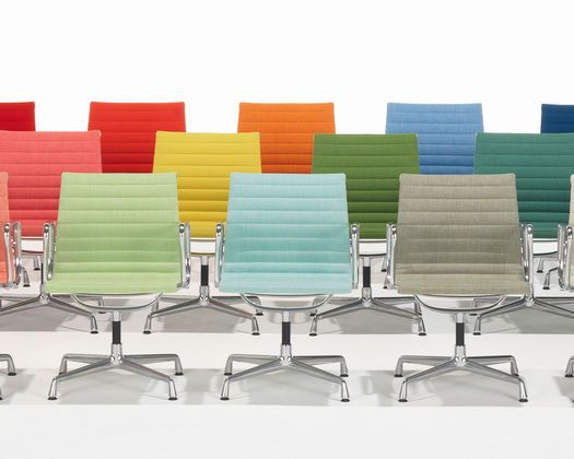 Vitra has relaunced the original 1958 eames aluminum group for Vitra ea 108 replica