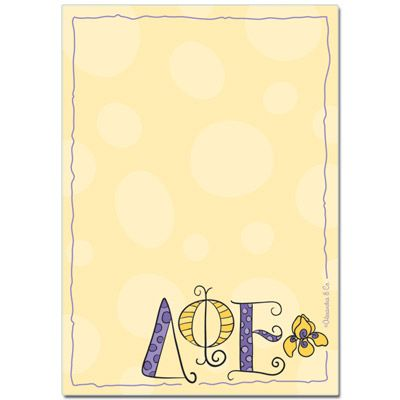 Delta Phi Epsilon Sorority Notepad $4.95