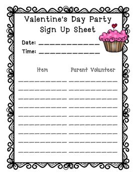 Holiday Party Sign Up Sheets Holiday Party Sign Party Signs School Easter Party