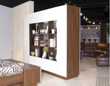 Harrison Room Divider Storage Wall Flat Panel TV Furniture IcOn