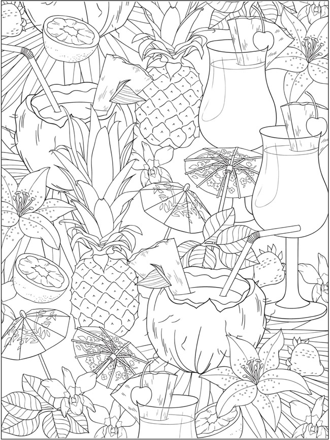 Creative Haven Truly Tropical Coloring Book Summer Coloring Pages Free Coloring Pages Coloring Pages