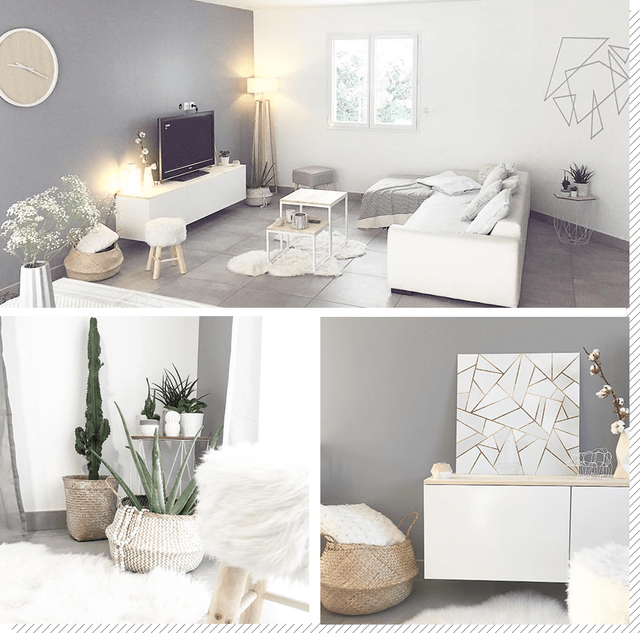 Salon scandinave : Top 18 Instagram  Décoration salon cocooning