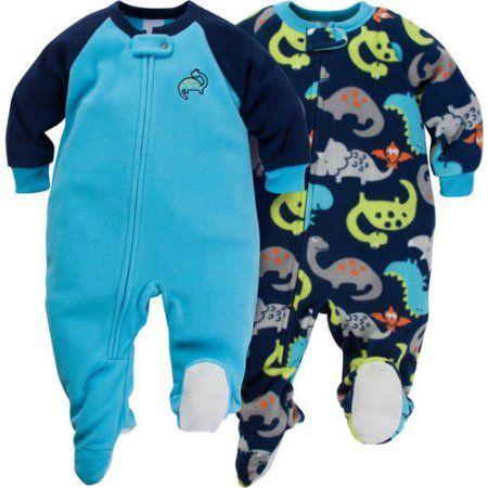 ca594a3dcb Gerber Baby Toddler Boy Microfleece Footed Blanket Sleeper
