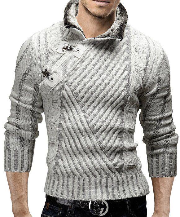MERISH Suéter de punto para Hombre con Cuello chal diseño muy bonito ...