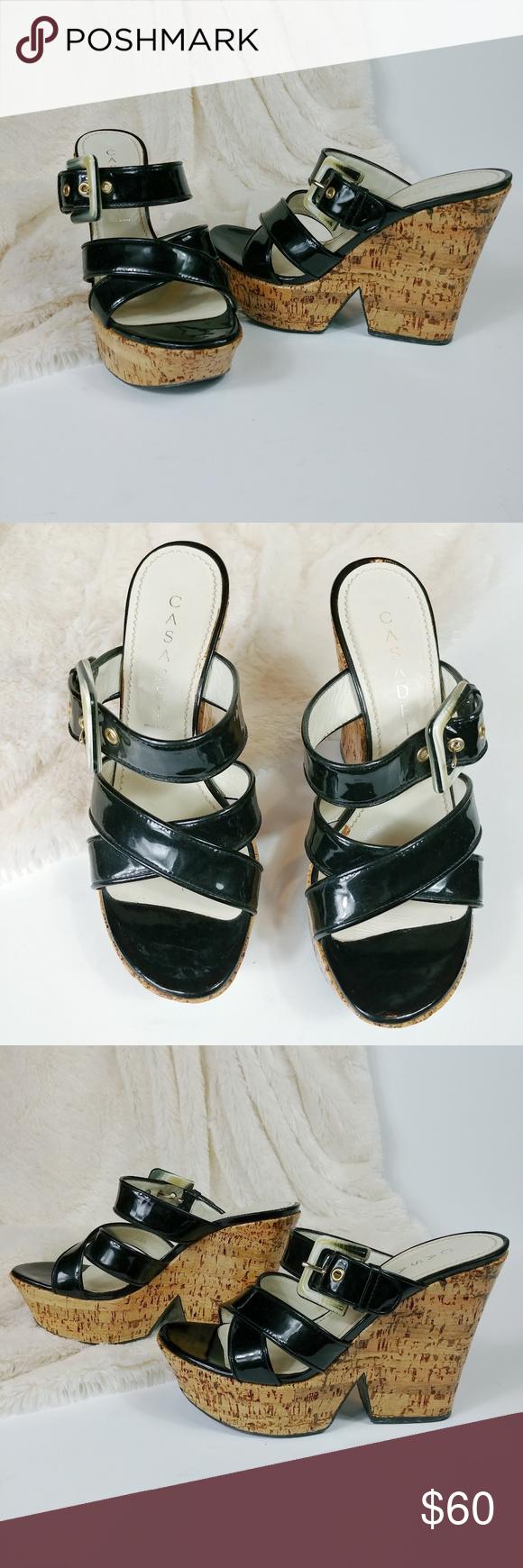 Casadei Black Patent Leather Platform Sandals In 2020 Leather Platform Sandals Black Patent Leather Patent Sandals