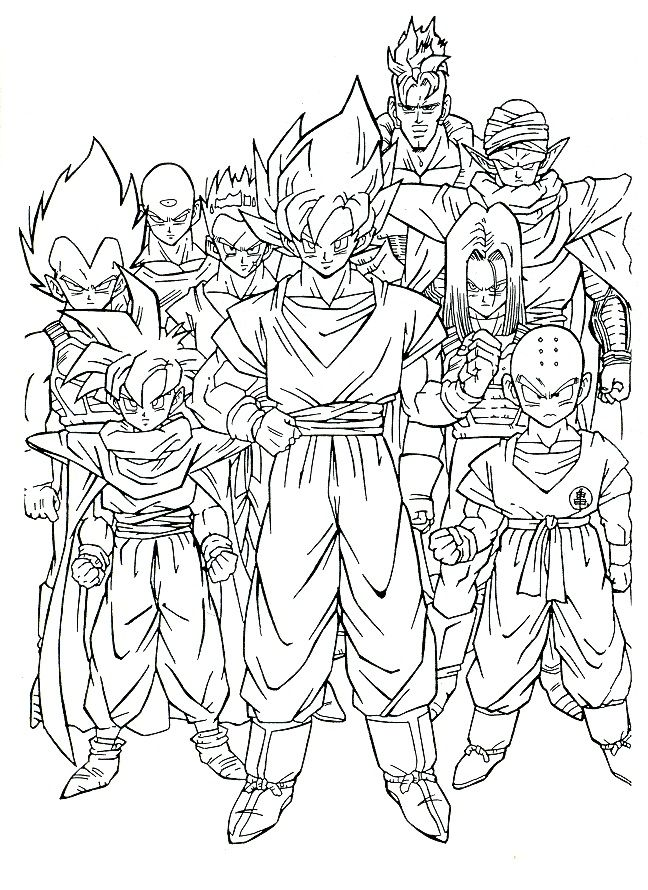 Juegos De Colorear De Dragon Ball Z Juegos Az Dibujos Para Colorear Dibujos De Dragon Dragones Personajes De Dragon Ball