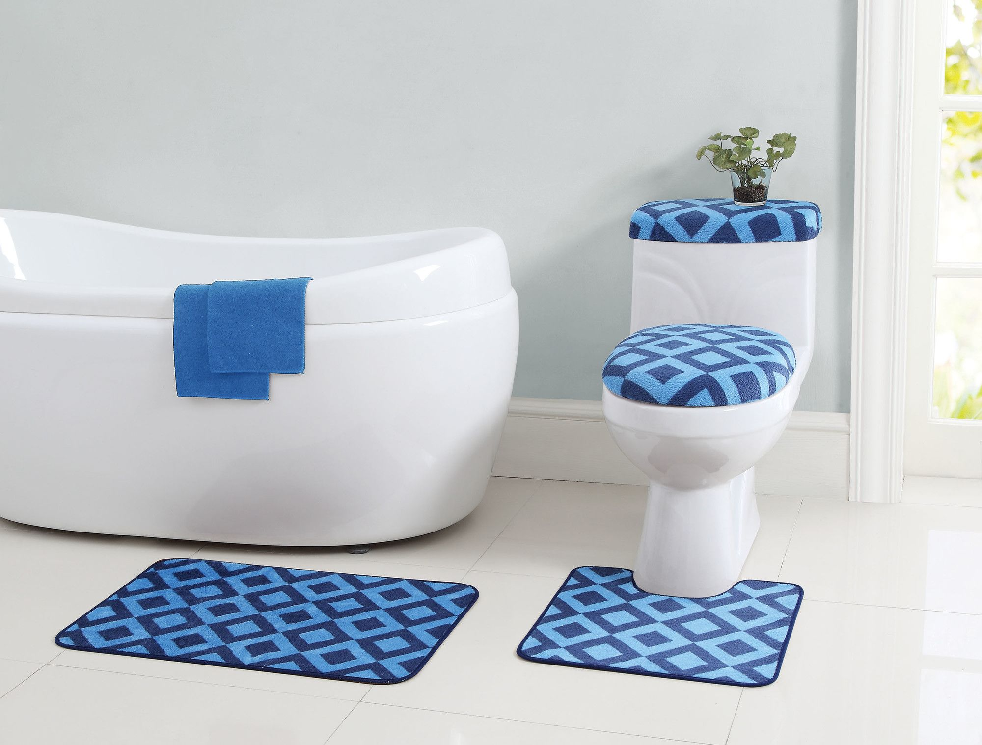 12-Piece Jessica Bath Rug Set