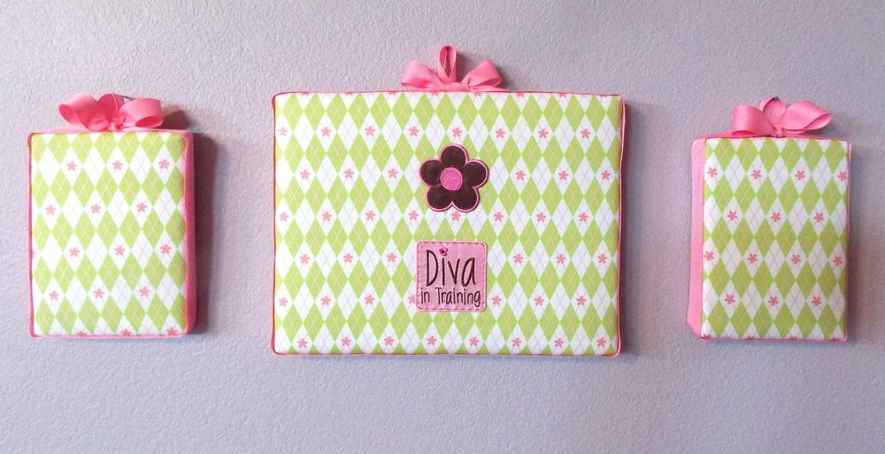 S Canvas Art Diva In Training Wall Decor Collage Bedroom Playroom Flowers