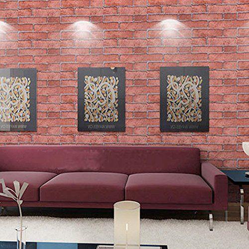 Newest Brick Stone Pattern Vinyl Self Adhesive Wallpaper Roll Peel Stick Contact Paper