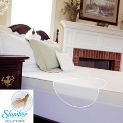Slumber Solutions 3 Inch Memory Foam Mattress Topper With