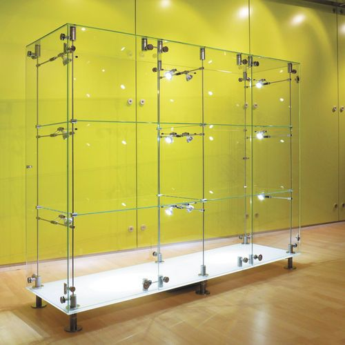 Contemporary Display Case Glass Illuminated For Professional