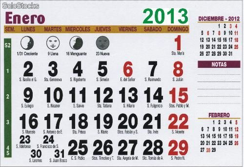 Calendarios para imprimir con santoral 2013 re downloads Calendario 2017 con lunas