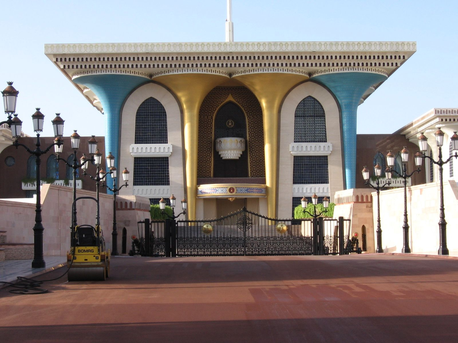 Entrance to the palace of the Sultan of Oman in Muscat