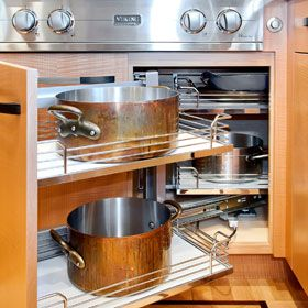 Hafele magic corner under Viking Range. Kitchen remodel by Bay Area ...