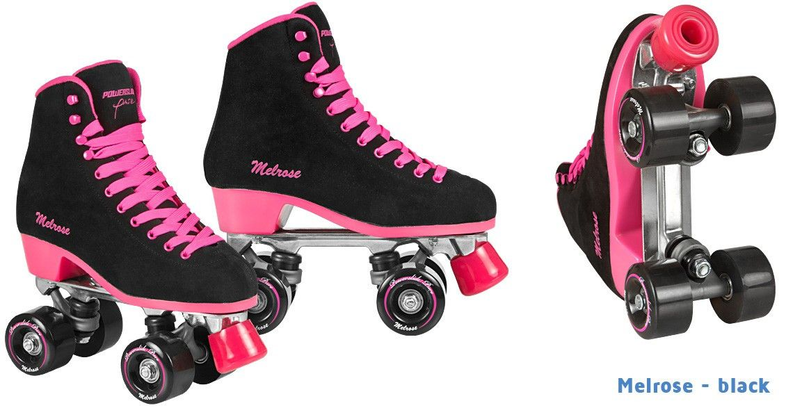 Powerslide Melrose Quads Women S Skates Black And Pink Women Skates Converse Chuck Taylor High Top Sneaker Skate