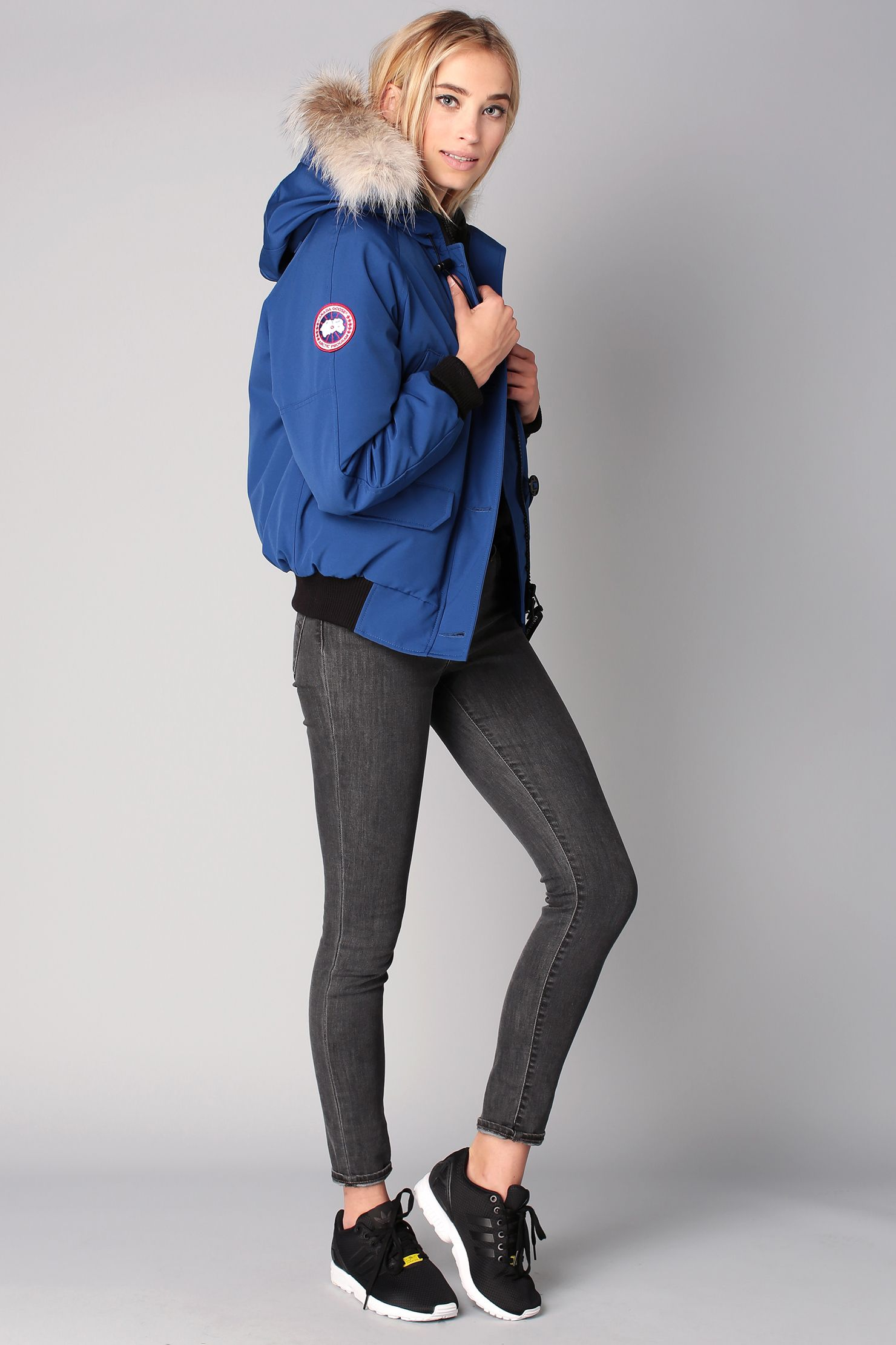 Blouson aviateur bleu matellassé Chilliwak - Canada Goose Parka Femme Hiver,  Veste Ski Femme, 795f78721b44