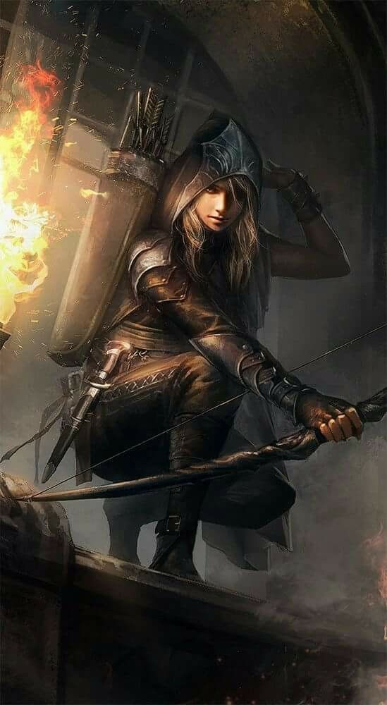 Image result for bow assassin art female