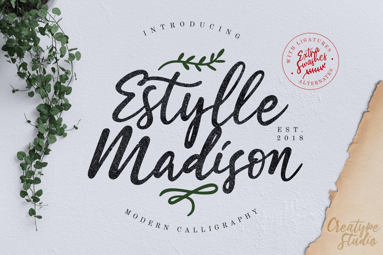Estylle Madison Calligraphy Modern calligraphy fonts