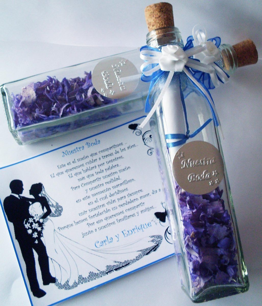 Botellas De Vidrio Para Invitaciones Quince A 241 Os Bodas