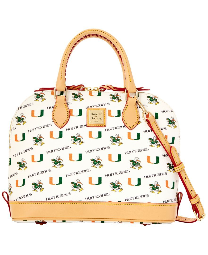 87eeffb55cf Dooney & Bourke Miami Hurricanes Zip Zip Satchel | Love | Dooney ...
