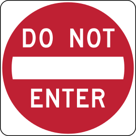 No Symbol Stiker