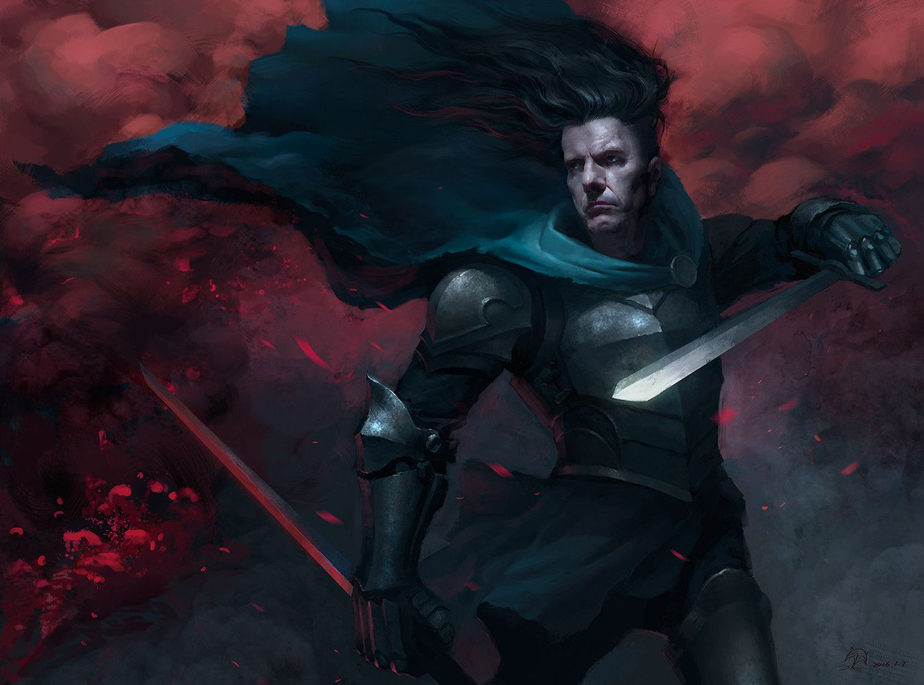 Black Knight, fox wu on ArtStation at https://www.artstation.com/artwork/black-knight-4