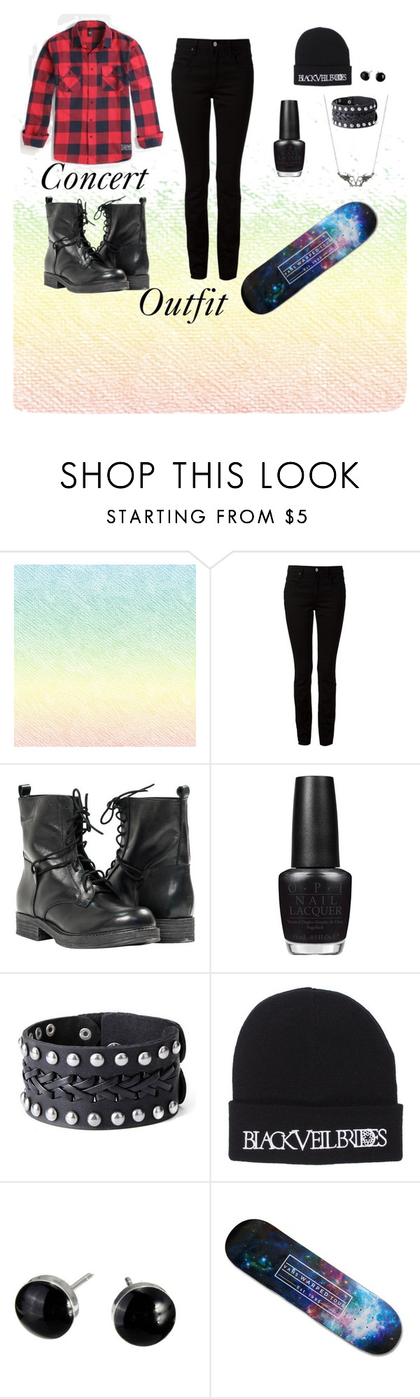 """""""Concert Outfit"""" by jacquelynmater on Polyvore featuring T By Alexander Wang, Paolo Shoes, OPI and Vans"""