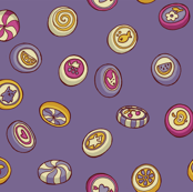candy - no wrapper - contrasty purple fabric by celandine for sale on Spoonflower - custom fabric, wallpaper and wall decals
