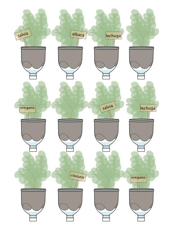 Macetas org nicas de diario y huertos verticales con - Macetas para jardin vertical ...
