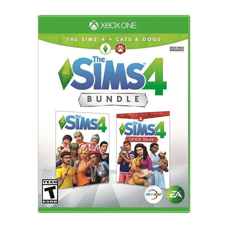 Xbox One The Sims 4 Bundle The Sims 4 Cats And Dogs Video Game Sims 4 Bundle Cat And Dog Videos Playing Video Games