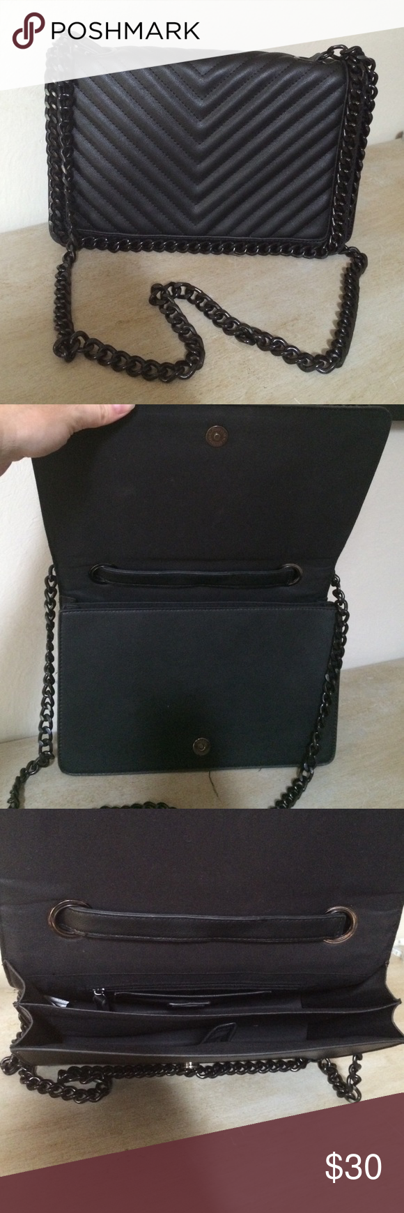 1449f3dada7 Aldo Greenwald black chain strap purse Excellent condition! Like new!  Measures 12