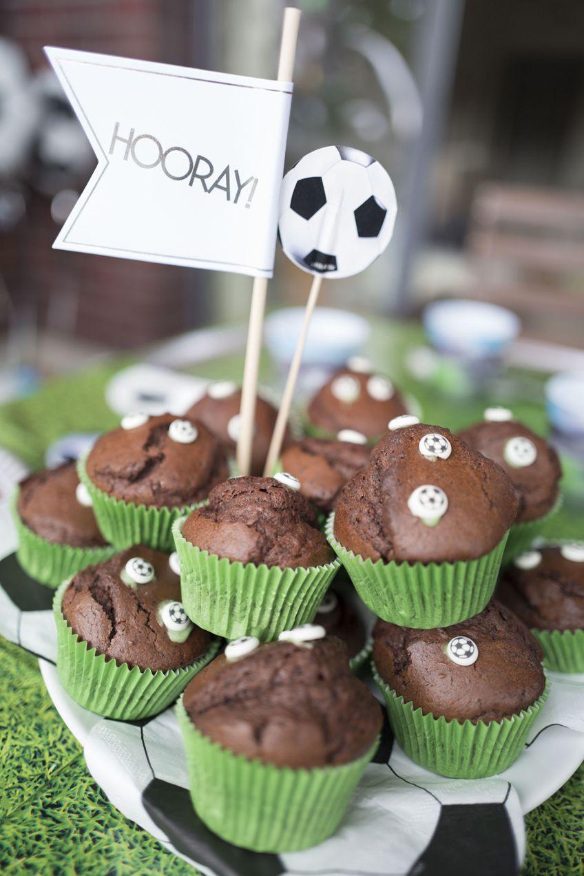 Fußball Muffins Kindergeburtstag