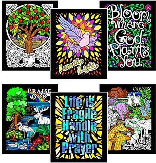 Prayer - 6 Pack of 8x10 Inch Fuzzy Velvet Coloring Posters | velvet ...