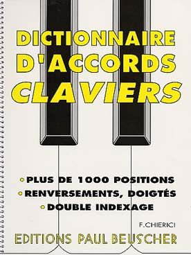 Chierici Dictionnaire D Accords Claviers Particuliers 5 Marchands 20 Claviers Dictionnaire Accords De Guitare